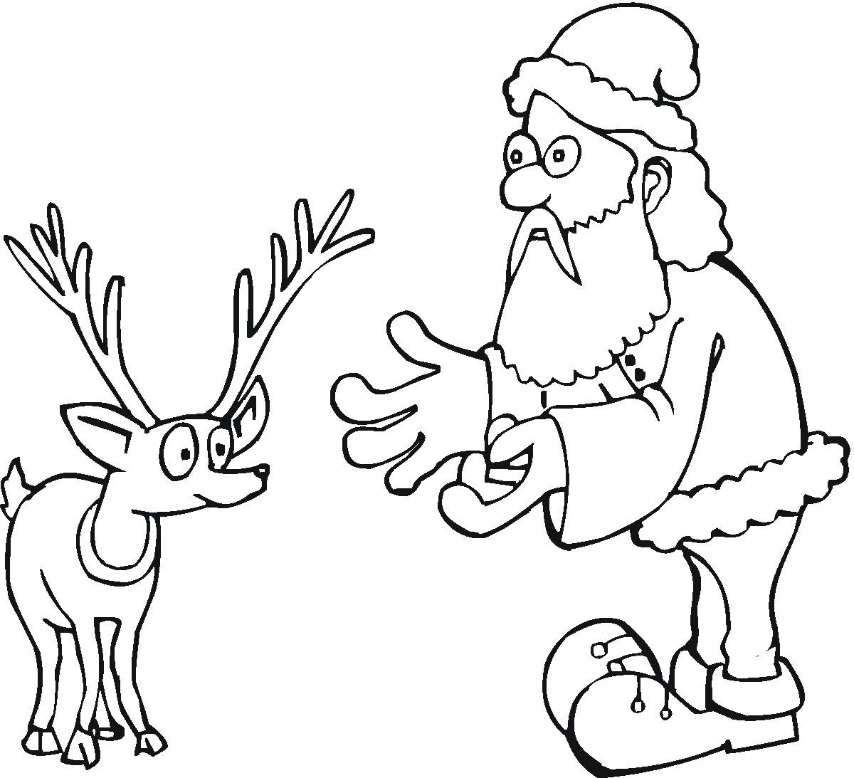 coloring page from santas workshopws santa